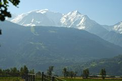 High Alps Chamonix France. Mount Mont Blanc Chamonix France Stock Photography