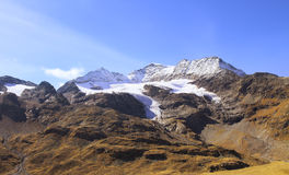 High Alps mountains between Italy and Switzerland Royalty Free Stock Photo