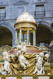 High altar, center of the presbyterate, tabernacle bordered Royalty Free Stock Image