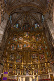 High altar of the gothic Cathedral of Toledo. Inside view of the retable and High Alter of the Cathedral of Toledo (Primate Cathedral of Saint Mary of Toledo) Stock Photos