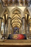 High Altar in Salisbury cathedral. The High Altar in Salisbury cathedral in Wiltshire, UK royalty free stock photo