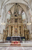 The high altar in the style of classic Baroque in the church of Royalty Free Stock Photos