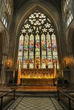 High altar window, Ripon Cathedral Royalty Free Stock Photography