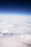 High altitude. Aerial view of cloud formation and sky taken from high altitude Royalty Free Stock Photography
