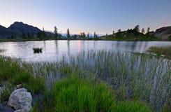 High altitude alpine lake Royalty Free Stock Image
