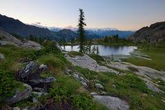 High altitude alpine lake Royalty Free Stock Photos