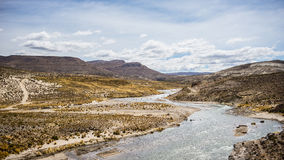 High altitude Andean landscape with dramatic sky Royalty Free Stock Photo