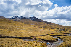 High altitude Andean landscape with dramatic sky Stock Photo