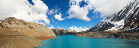 High altitude beautiful blue lake Stock Photography