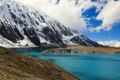 High altitude beautiful blue lake Royalty Free Stock Image