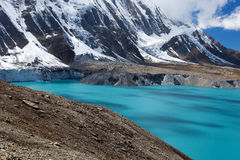 High altitude beautiful blue lake Royalty Free Stock Images