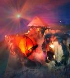 High-altitude camp On the mountain Goverla Stock Photos