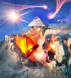 High-altitude camp On the mountain Goverla Stock Image