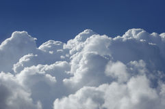High altitude cumulus clouds Royalty Free Stock Photo