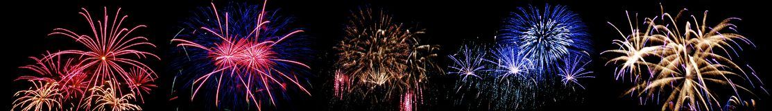 High altitude fireworks. In Berlin, Germany Royalty Free Stock Photo
