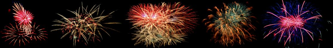 High altitude fireworks. In Berlin, Germany Royalty Free Stock Images