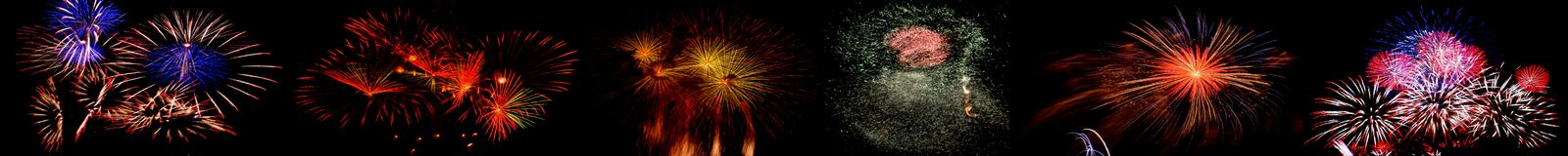 High altitude fireworks. In Berlin, Germany Royalty Free Stock Photos