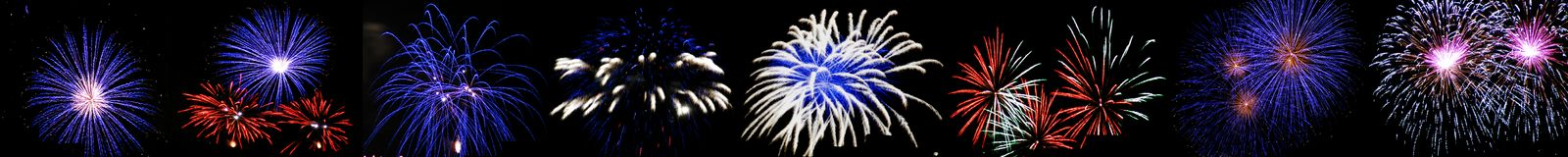 High altitude fireworks. In Berlin, Germany Royalty Free Stock Photography
