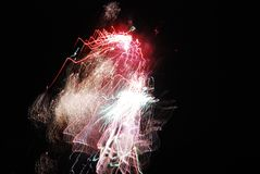 High altitude fireworks from 2012 in Berlin, Germany Stock Photography