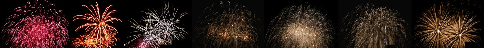 High altitude fireworks. In Berlin, Germany Royalty Free Stock Image