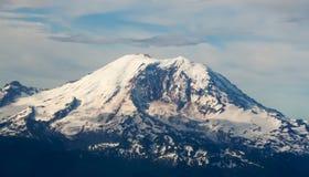 High Altitude Full Aerial View of Mount Rainier Stock Image