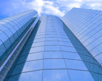 High-altitude glass buildings Stock Photo