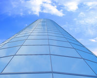 High-altitude glass buildings with the sky Royalty Free Stock Photos