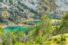 High Altitude Green Lakes Royalty Free Stock Photo