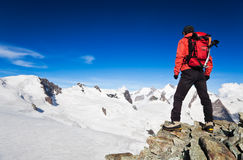 High Altitude Hiking Royalty Free Stock Photo