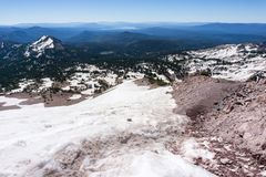 Landscape in Lassen Volcanic National Park stock images