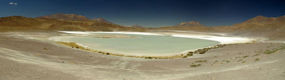 High altitude lagoon in the Salar de Uyuni Royalty Free Stock Images