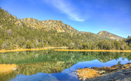 High Altitude Lake. Beautiful high altitude lake les Laquettes located in Pyrenees Mountains, in Neouvielle Massif Royalty Free Stock Photo