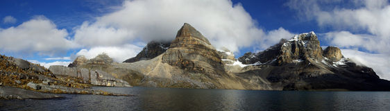 High altitude lake and mountains of the Andes Stock Photo