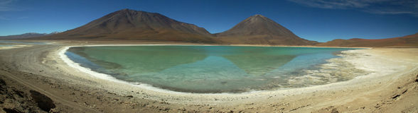 High altitude lake in Uyuni, Bolivia Royalty Free Stock Image