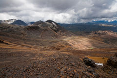 High altitude landscape in Bolivian Andes Royalty Free Stock Photos