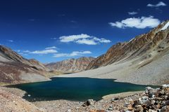 High altitude mountain lake Royalty Free Stock Photo