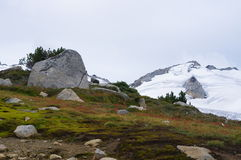 High altitude mountain scenery Stock Photo