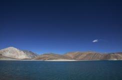 High altitude Pangong lake in ladakh Royalty Free Stock Images
