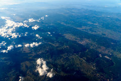 High Altitude Photo Of Planet Earth. Horizon royalty free stock photography