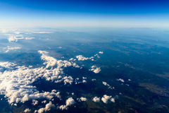 High Altitude Photo Of Planet Earth. Horizon royalty free stock images