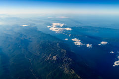 High Altitude Photo Of Planet Earth. Horizon stock image