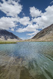 High altitude pure Himalayan lake reflection Royalty Free Stock Photo