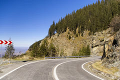 High altitude road Royalty Free Stock Image