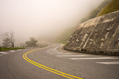 High altitude road through the Andes in Colombia Royalty Free Stock Photos