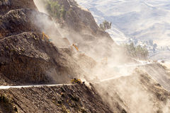 High Altitude Road Construction Stock Photography