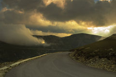 High altitude road in the mountains Royalty Free Stock Photos