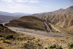 high altitude road top of the great Atlas, Morocco Stock Photos