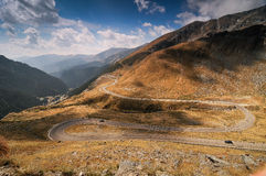 High altitude road. Transfagarasan in Fagaras mountains, Romania Royalty Free Stock Photos