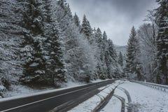 High altitude road Stock Photos