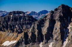 High altitude rocky Mountain peaks Stock Photos